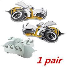 1 пара металлических наклеек и наклеек для dodge challenger, автомобильные аксессуары Hemi SRT, автомобильные авто аксессуары для экстерьера(Китай)