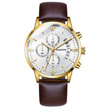 GUANQIN мужские часы, мужские часы, люксовый Известный Топ бренд, мужские Модные Повседневные часы под платье, военные кварцевые наручные часы ...(China)