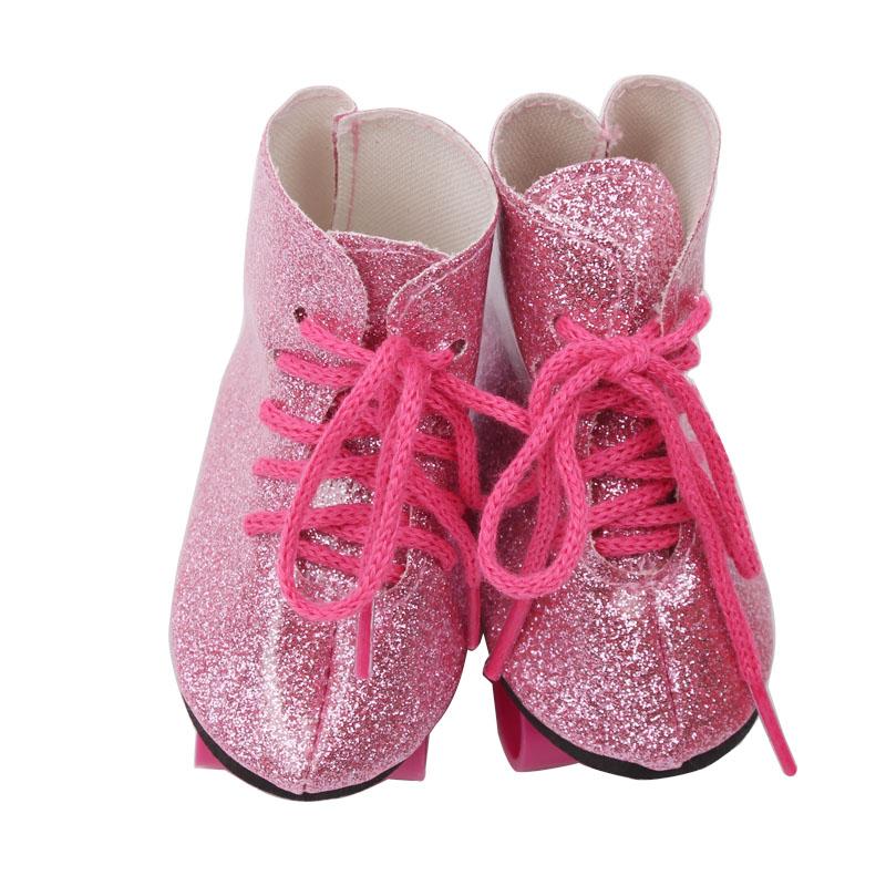 18 дюймов обувь для девочек, роликовые коньки, искусственная кожа, американский стиль, для новорожденных, роликовые колеса, детские игрушки, ...(Китай)