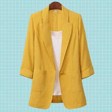 Женский офисный пиджак с отложным воротником, белый свободный пиджак для офиса, 3 цвета, размеры от 2 до 8 лет, лето 2020(Китай)