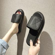 Fujin/женские тапочки; Новинка; Тапочки на платформе; Модные женские босоножки ярких цветов; Модные повседневные сандалии на толстой подошве(Китай)