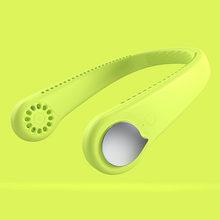 Подвесной вентилятор для шеи, USB Перезаряжаемый мини-воздушный охладитель, спортивный вентилятор, супер классный портативный кондиционер, ...(Китай)