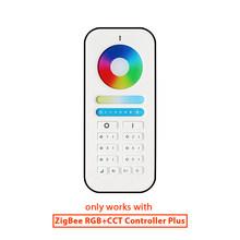 G светодиодный OPTO ZigBee 3,0 + 2,4G RF RGB + CCT светодиодный контроллер полосы плюс DC12-24V работать с zigbee шлюзами alexa echo plus управление приложением(Китай)