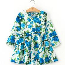 Новое летнее платье для девочки, детская одежда, детское платье, клетчатое платье с длинным рукавом для девочки, мягкое летнее хлопковое пла...(Китай)