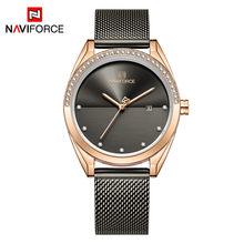 Женские часы NAVIFORCE, роскошные модные кварцевые наручные часы со стразами, 3 АТМ, водонепроницаемые часы для девушек, Relogio Feminino(Китай)