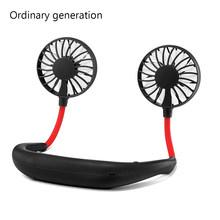 Мини Портативный шейный вентилятор USB Перезаряжаемый охладитель воздуха персональные вентиляторы воздушного охлаждения 3 скоростной цвет...(Китай)