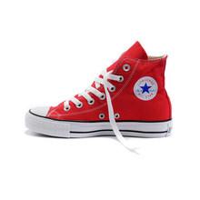 Конверс All-star Мужская обувь для скейтборда Классические Женские Кроссовки парусиновые высокие удобные прочные унисекс обувь 101010(Китай)