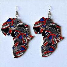Африканские деревянные серьги для женщин, уличные стильные массивные этнические серьги-капли, простые аксессуары для девочек, разноцветны...(Китай)
