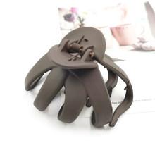 Женские заколки-когти из пластика, геометрические матовые заколки для волос, модные простые аксессуары для волос, 2019(Китай)