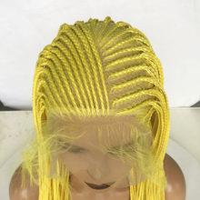 RONGDUOYI, длинные, Омбре, каштановые волосы, синтетический парик с кружевом спереди, два тона, темно-коричневый, 2X, твист, косы, парики для женщин,...(Китай)