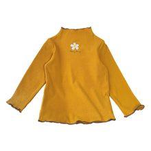 Модная детская Повседневная рубашка с длинными рукавами и цветочным принтом для девочек(Китай)