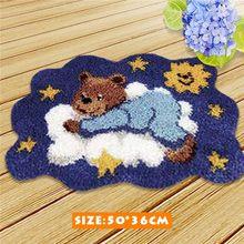 Набор крючков для медвежонка Smyrna Tapijt, пенопластовый коврик для рукоделия Klink Haak Kussen Knooppakket, подушка с пуговицей, ковер(Китай)