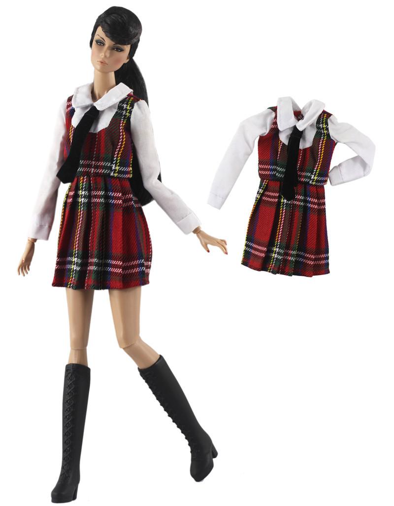 Новое Кукольное платье NK Mix, мини-юбка, вечернее платье, современный наряд, Повседневная Одежда для куклы Барби, лучший подарок, аксессуары д...(Китай)