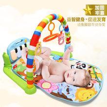 Детская педаль пианино игрушка 0-1 фитнес стенд музыкальная игра одеяло раннее образование история машина(Китай)