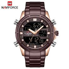Часы NAVIFORCE мужские, армейские, аналоговые, спортивные, водонепроницаемые(Китай)