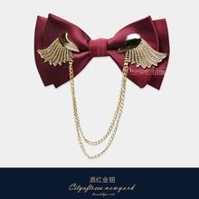 Бесплатная доставка, новая мода, Мужская, Британская, металлическая, двухслойная, галстук-бабочка, золотые крылья, хост, свадебное платье, ко...(Китай)