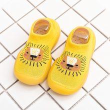 Обувь для новорожденных девочек; Летние детские домашние носки с рисунками животных; Обувь для малышей; Нескользящие носки-тапочки для маль...(China)
