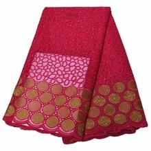 Кружевная ткань с вышивкой Alisa Blue, африканская кружевная ткань высокого качества, французские сетчатые шнурки с камнями, 5 ярдов/шт, сетчатые...(Китай)