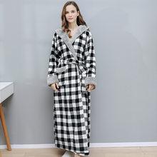 FZSLCYIYI/очень длинный халат-кимоно для мужчин и женщин, размер XL, Фланелевая пижама, толстая ночная рубашка, Повседневная Домашняя одежда, ночн...(Китай)