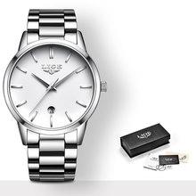 LIGE 2020 новые модные золотые часы женские креативные стальные женские часы с браслетом Женские Подарочные часы Relogio Feminino(China)