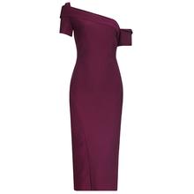 Новинка 2020 женское сексуальное дизайнерское красное Бандажное платье длиной до колена вечернее платье знаменитостей Vestido(Китай)
