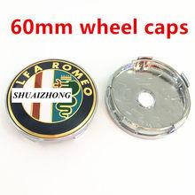 4 шт. 50 мм 56 мм 60 мм Alfa Romeo Центральная втулка колеса автомобиля колпачки значок крышки колесных дисков логотип колпачки эмблема пылезащитные...(Китай)