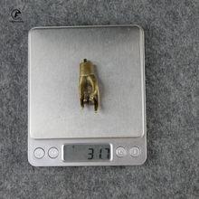 Античная медь счастливый будда ручные фигурки украшения Винтажные латунные фэн-шуй украшения для дома аксессуары декор стола брелки(Китай)