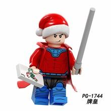 Marvel, Мстители, рождественские фигурки, Железный человек, Бэтмен, Человек-паук, Санта-Клаус, Гринч, Дарт Вейдер, Лея люк, строительные блоки, ки...(Китай)
