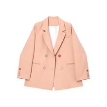 Женский двубортный Блейзер DEAT, свободный пиджак с отложным воротником и длинным рукавом, весна-осень 2020, 13S108(Китай)