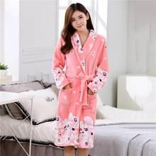 Женские халаты, пижамы из кораллового флиса, сексуальная ночная рубашка, кимоно, нижнее белье размера плюс, Толстая теплая Домашняя одежда, ...(Китай)