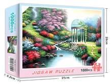 Пазлы 1000 штук пейзажный узор картинки взрослые Пазлы игрушки для взрослых Детские Игры развивающие игрушки(Китай)
