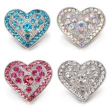 6 шт./лот, новые ювелирные украшения, высокое качество, любовь, сердце, металлические кнопки 18 мм, DIY Подвески, кнопки, украшения(Китай)