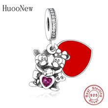 Оригинальный браслет Pandora из стерлингового серебра 925 пробы с циркониевыми бусинами для женщин и женщин подарок на День святого Валентина д...(Китай)