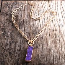 RH модное колье-чокер, массивное ожерелье золотого цвета, цепочка Амулет из друзей камней, панк-колье(Китай)