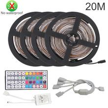 Светодиодная лента светильник RGB 5050SMD DC 5V гибкая лента 2835SMD 1 м 2 м 3 м лента диод USB Светодиодная лента лампа Bluetooth Музыка ТВ ПОДСВЕТКА светильн...(Китай)