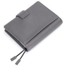 A6 записная книжка ежедневник канцтовары небольшой блокнот повестка дня Органайзер большой карман темно-серый(Китай)