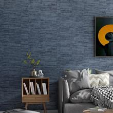 Современная простая металлическая полосатая текстурированная настенная бумага серого, синего, хаки сплошного цвета, настенная бумага для ...(Китай)