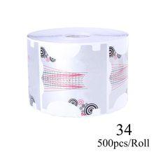 500 шт. формы для ногтей, акриловые накладные ногти, бумага для рукоделия, дизайн ногтей, строитель, кривые трафареты, инструменты для маникюр...(Китай)