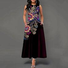 Женское элегантное черное плиссированное платье в винтажном стиле с цветочным принтом, трапециевидным карманом для свадебной вечеринки, т...(China)