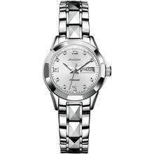 JSDUN высококачественные сапфировые механические Женские часы, роскошные брендовые водонепроницаемые часы из вольфрамовой стали, женские ча...(Китай)