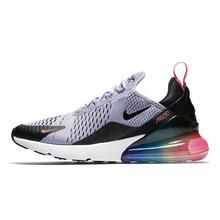 Оригинальные женские дышащие кроссовки для бега NIKE Air Max 270, спортивные уличные кроссовки, спортивная Дизайнерская обувь CD8497-100(Китай)