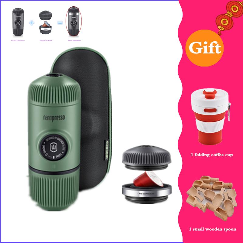Wacaco Minipresso, Кофеварка, Ручной пресс, капсула и порошок, кофемашина, ручная Эспрессо-машина, портативная, для путешествий, кофе(Китай)