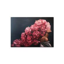 Перо цветок женщина Голова Холст плакат скандинавские абстрактные стены Художественная печать живопись Современная декоративная картина ...(Китай)