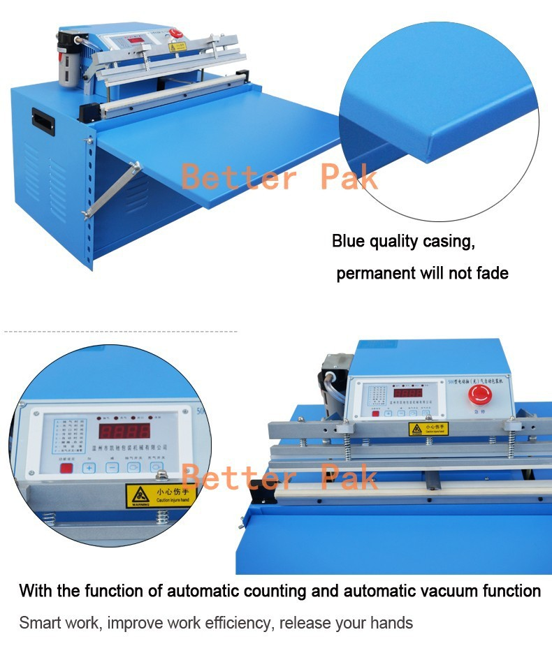 DZ500T finish,rice commercial vacuum sealer,industrial vacuum package  machine,Desktop outside pumping vacuum packaging machine