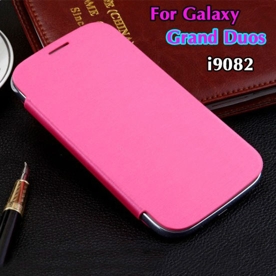 info for 953e9 6b32a For samsung Galaxy Grand Duos i9082 9082 Original Flip Leather Back Cover  Cases Battery Housing Case Holster + Screen Protector