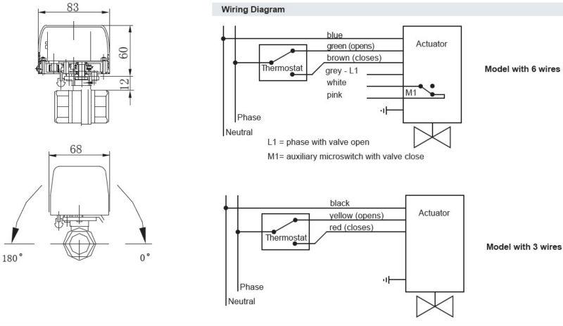 ac24v or ac220v 50 60hz 3 way 1 2 motorized valve 6. Black Bedroom Furniture Sets. Home Design Ideas
