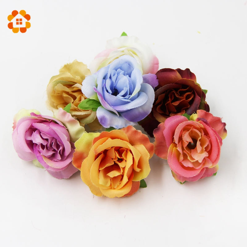 10 PCS DIY Silk Flower Party Home Wedding Decoration Wreath Low Price Beautiful Artificial Flowers Multicolor