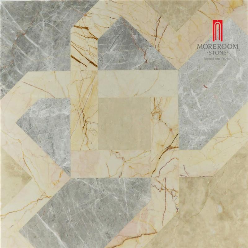 Greek Grey Marble Waterjet Marble Tiles Slabs For Flooring