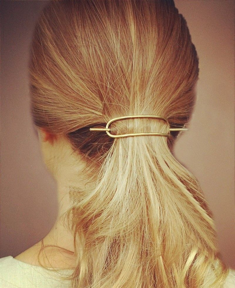Women Hair Accessories Simple Design Geometric Oval ...