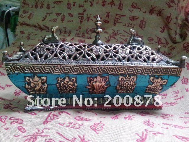 009ca834ba TBC886 Tibetan brass vintage incense burner